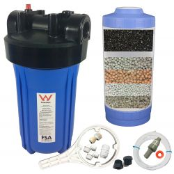 Undersink Multi-Media Water Filter System - Alkalising Media For Acidic Water - GAC GT1-102