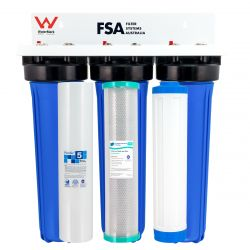 "WaterMark Triple Whole House Hard Water Treatment System 20"" x 4.5"" (GT1-108-OSP)"
