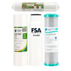 Replacement Cartridges, NO Membrane - for 5 Stage R/O Water Filter (1-11-R5000)
