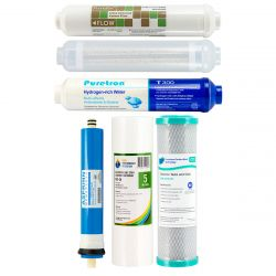 7 Stage Hydrogen Rich Reverse Osmosis Water Filter Full Replacement Pack GT1-11HFM
