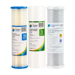 Replacement Water Filter Pack For Triple Undersink System (1-11T)