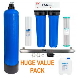 Twin Whole House Rain Water Treatment Filter System | Ultraviolet + pH Neutralising 1-18-Twin-Kit