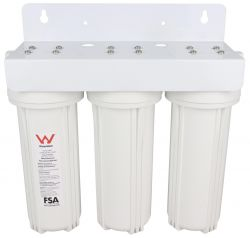 "WaterMark Triple Undersink Water Filter System 10"" x 2.5"" GT1-38"