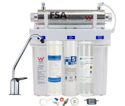 Triple Undersink Water Filter System + UV Light Kills100% Bacteria/Virus 1-38TUV