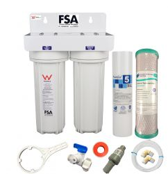 Twin Undersink Water Filter With 3 Way Mixer Tap Watermark WELS Certified GT1-46W