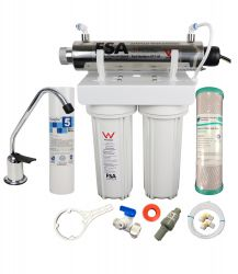 WaterMark Twin Undersink Tank Water Filter - Ultraviolet Sanitation 3.78L/Min (1-46WUV)