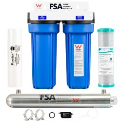 "Whole House Water Filter System 10"" x 2.5"" Ultraviolet Sanitation Unit"