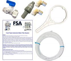 Fitting Kit and Instructions - Suits Twin Undersink Water Filter Systems (1-72)