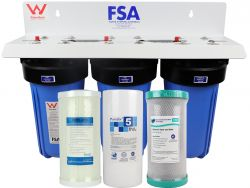 "WaterMark Certified Triple Whole House Water Filter System 10"" x 4.5"" (GT1-7TWM)"