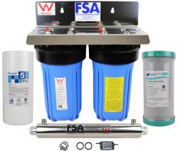 "Whole House Water Filter System 10"" x 4.5"" Ultraviolet Sanitation Unit"