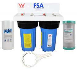 "WaterMark Certified Twin Whole House Water Filter System 10"" x 4.5"" (GT1-7WMW)"