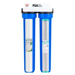 """WaterMark Twin Whole House Water Filter System 20"""" x 2.5"""" (1-80F)"""