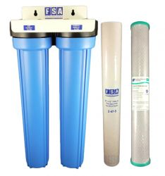 "WaterMark Twin Whole House Water Filter System 20"" x 2.5"" (1-80F)"
