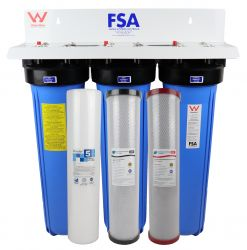 "Triple Whole House Water Filter System 20"" x 4.5"" Big Blue 1-9TWM"