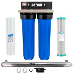 "WaterMark Whole House Water Filter System 20"" x 4.5"" Ultraviolet Sanitation 1-9WMS 7-8K"