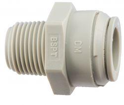 "1 x DMfit™ 3/8"" BSP thread x 1/2"" Tube Connector PI011603S (10-133-DM)"