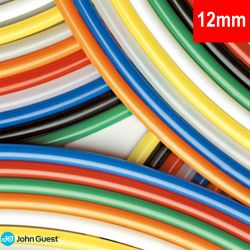 John Guest Red Tubing for Filtration 12mm PE12100R For Caravan + Camper 3m Roll (20-11R)