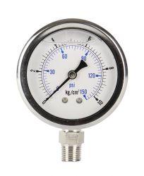 """Water Pressure Gauge 60mm 150 PSI (Bottom Mount) 1/4"""" NPT GT16-3S"""