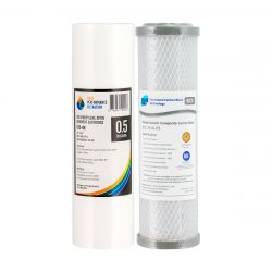 "Replacement Water Filter Cartridges Silver Impregnated 0.5uM 10"" x 2.5"" 2-0 4-58"