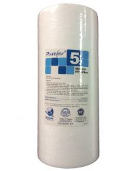 "Polyspun Sediment Water Filter Cartridge 10"" x 4.5"" Certified 5 Micron Gradient Filter GT2-16N"