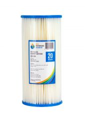 """10"""" x 4.5"""" 20 Micron Poly Pleated / Washable Dirt Sediment Water Filter (2-21K)"""
