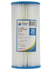 "10"" x 4.5"" 20 Micron Poly Pleated / Washable Dirt Sediment Water Filter (2-21K)"
