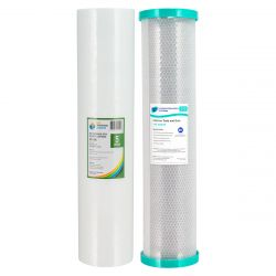 "Whole House Water Filter Cartridges 5um 20""x4.5"" BIG BLUE Carbon + Sed 2-28 4-19"
