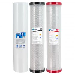 "Triple 20"" x 4.5"" Big Blue Replacement Water Filter Cartridges 2-28 LPD CRC"