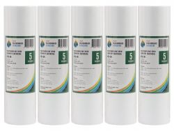 5x Poly Spun Dirt Sediment Water Filter Cartridges 5 Micron RO Pre Filters 2-2K