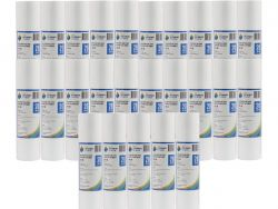 "25x Poly Spun Dirt Sediment Water Filter Cartridges 20 Micron 10"" x 2.5"" 2-3K"
