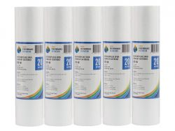 "5x Poly Spun Dirt Sediment Water Filter Cartridges 20 Micron 10"" x 2.5"" 2-3K"