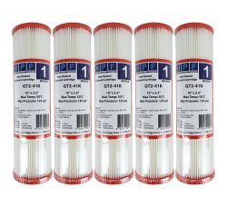 "5x Poly Pleated Washable Dirt Sediment Water Filters 1 Micron 10"" x 2.5"" 2-41K"