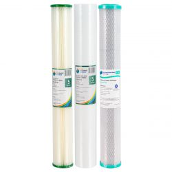 "Triple Water Filter Replacement Pack 20"" x 2.5"" 5 Micron"