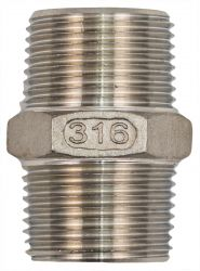 "Stainless Steel 316 Certified Joining Nipple 3/4"" NPT Suit Heavy Duty"
