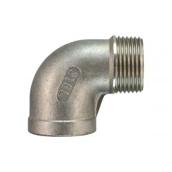 2 x 316 Stainless Steel 90 Degree M/F Elbow   1 Inch BSP (35-5)