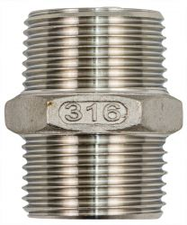"Stainless Steel 316 Certified Joining Nipple 1"" NPT Suit Big Blue"