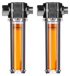 2x Universal Plastic Vitamin Shower Filter - Long Life Vitamin C Chlorine Removal Filter GT39-16