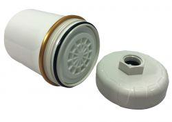 White Plastic High KDF Shower Filter