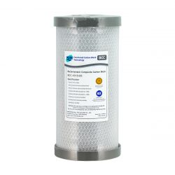 "Silver Carbon Block Water Filter | 5 micron | 10"" x 4.5"""