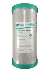 "Coconut Carbon Block Water Filter Cartridge 5 micron 10"" x 4.5"" Big Blue (4-13CTO)"