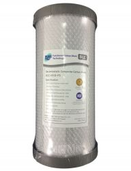 "SILVER IMPREGNATED Carbon Block Water Filter 0.5 micron 10"" x 4.5"""