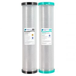 "Whole House Water Filter Cartridges Dual Carbon 20"" x 4.5"" BIG BLUE"