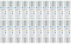 "BULK 20x Pure Premium CTO Carbon Block Water Filters 0.5 Micron 10"" x 2.5"""