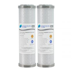 """2x SILVER Carbon Block Water Filter 0.5 Micron 10"""" x 2.5"""" GT4-58BCCP5"""