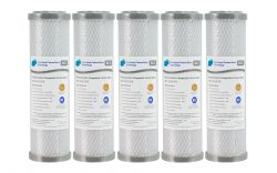"""5x SILVER BActeriostatic Carbon Block Water Filter 0.5 Micron 10"""" x 2.5"""""""