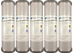 5x SILVER IMPREGNATED Carbon Block Water Filters PURE 5 Micron