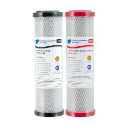 "Replacement Undersink Water Filters 10"" x 2.5"" Chloramine Reduction 0.5uM LPD CRC"