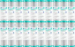 "BULK 20x Carbon Block Water Filters 5 Micron 10"" x 2.5"" 100% Coconut Carbon"
