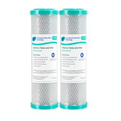 """2 Carbon Block Water Filters 100% COCONUT RO Pre Filter 5 micron 10"""" x 2.5"""" 4-7CTO"""