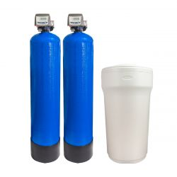 """Twin Alternating 9"""" x 35"""" Water Softener with 100LT Brine Tank 15-25 L/PM (41-32-TA9)"""